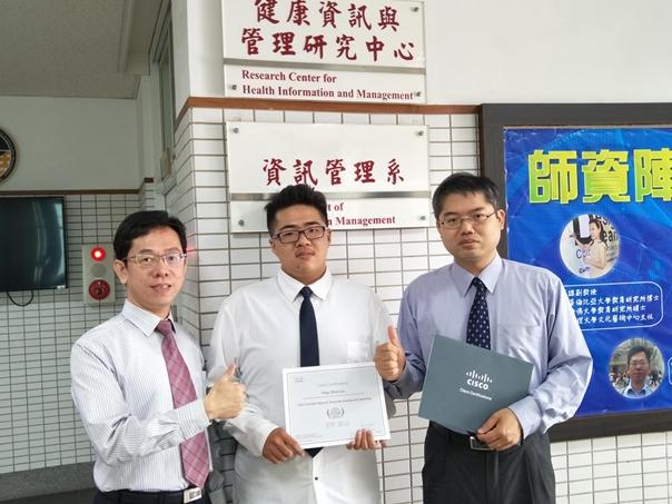 恭賀!劉英順同學考取CISCO CCNA網管證照